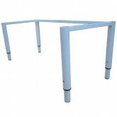 Каркас стола детского регулируемого гр.4-6, прямоугольный, м/к серый RAL 7001